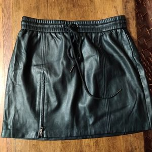 Kendall & Kylie**faux leather black mini